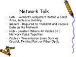 network talk