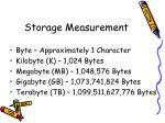 storage measurement