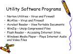 utility software programs