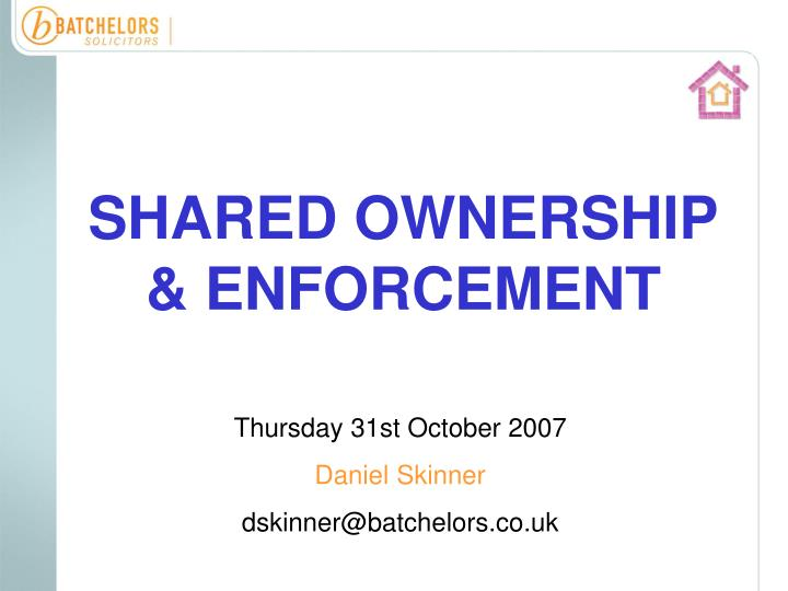 shared ownership enforcement n.