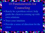 10 fundamentals for counseling