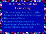 10 fundamentals for counseling23