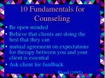 10 fundamentals for counseling24