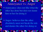 annoyance vs anger
