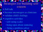 strategies for building self esteem