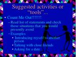 suggested activities or tools18
