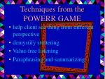 techniques from the powerr game