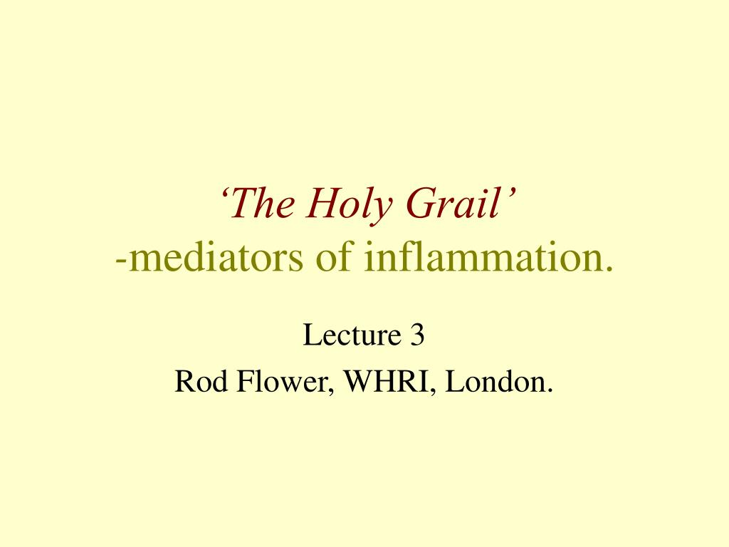 the holy grail mediators of inflammation l.
