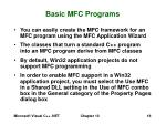 basic mfc programs
