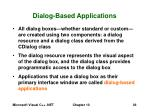 dialog based applications36