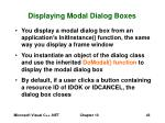 displaying modal dialog boxes