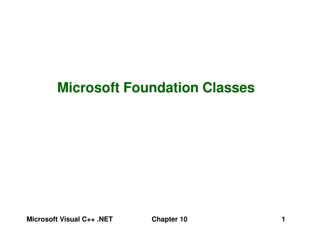 microsoft foundation classes l.