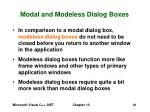 modal and modeless dialog boxes41