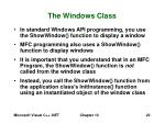 the windows class20