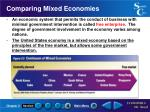 comparing mixed economies
