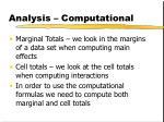 analysis computational