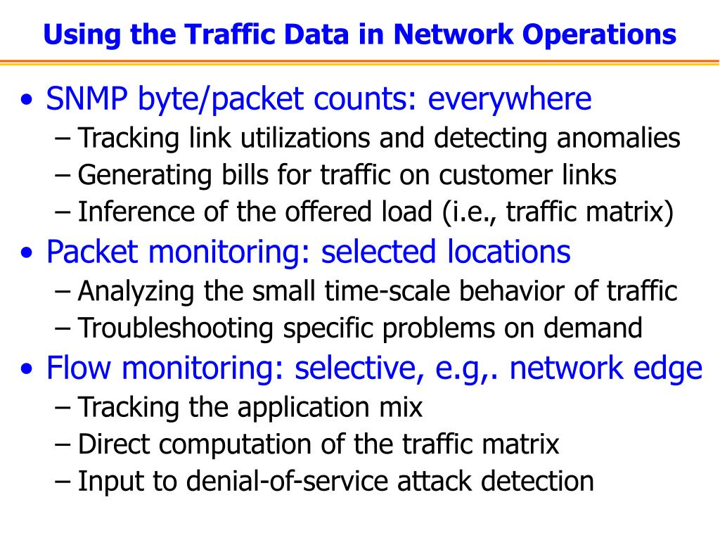 Using the Traffic Data in Network Operations