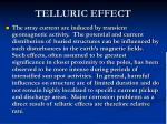 telluric effect