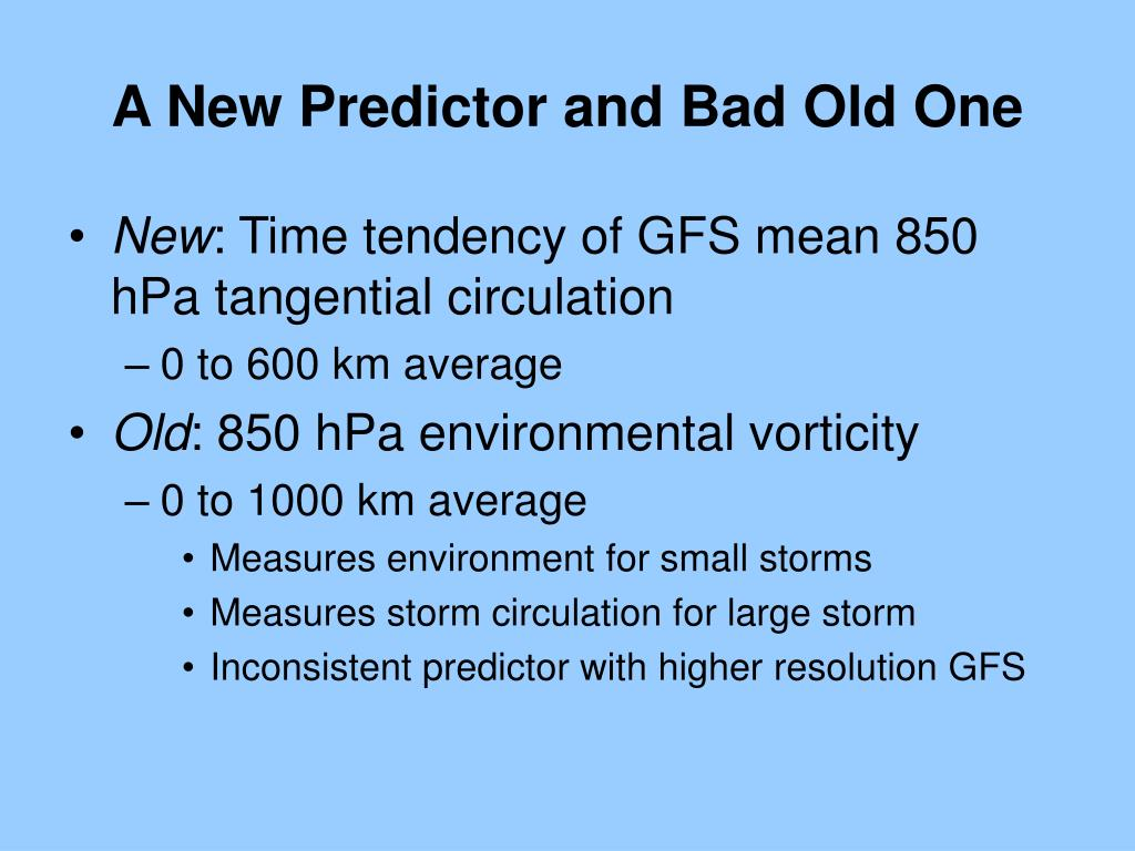 A New Predictor and Bad Old One