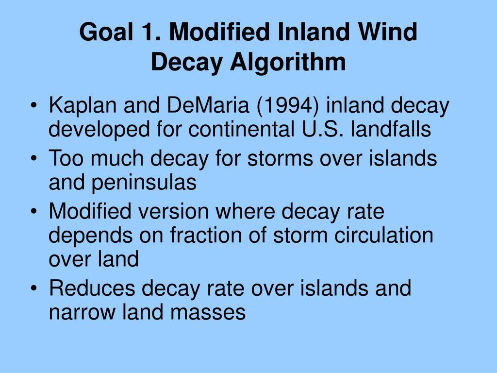 Goal 1. Modified Inland Wind