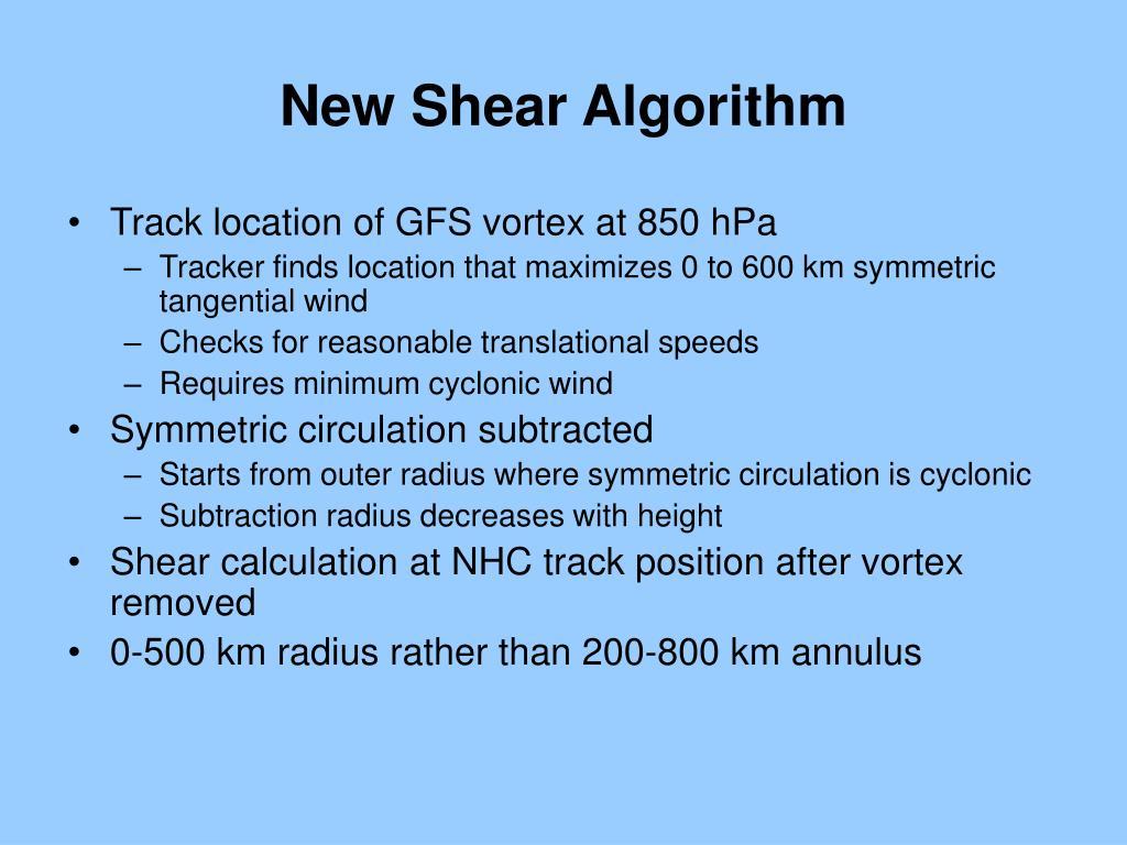 New Shear Algorithm