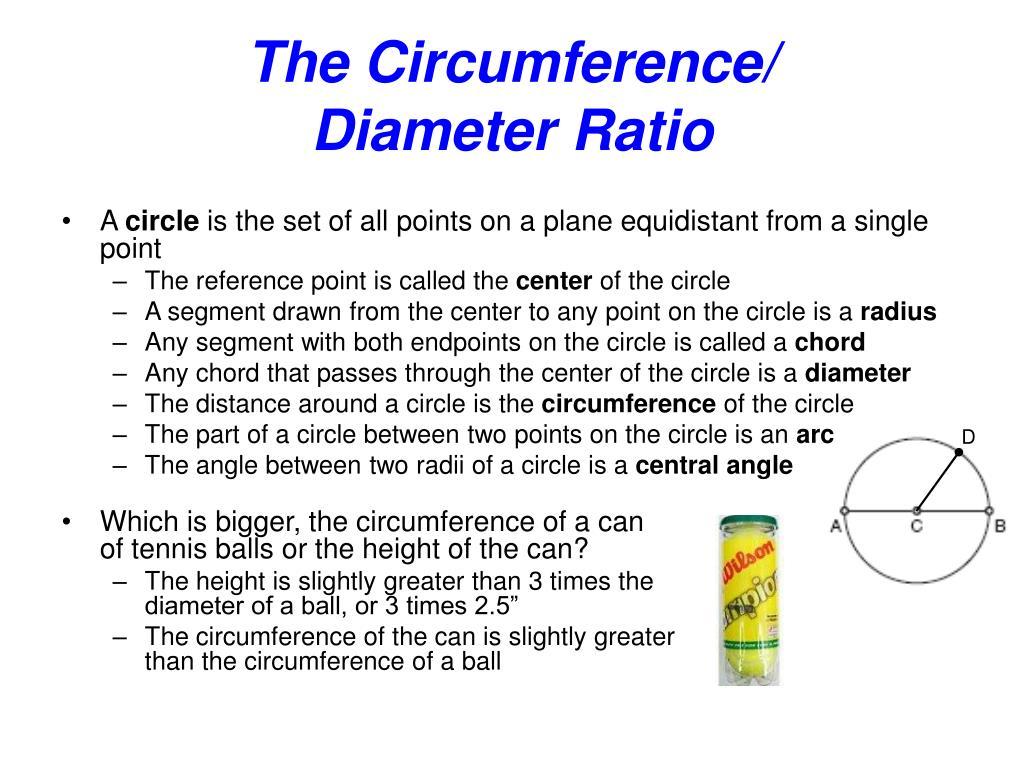 the circumference diameter ratio l.