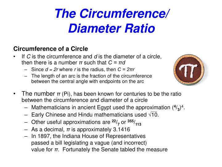 the steps in determining the ratio of the circumference to the diameter We can determine the circumference by multiplying the diameter by pi () 45 in в 314 = 1413 in the relationship between the diameter and circumference is explored in the activity provided in the engaging students section of this document.