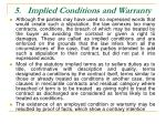 5 implied conditions and warranty