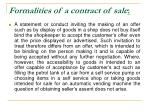 formalities of a contract of sale9