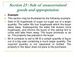 section 23 sale of unascertained goods and appropriation41