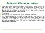 section 34 effect of part delivery