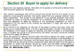 section 35 buyer to apply for delivery