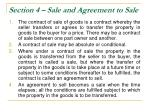 section 4 sale and agreement to sale