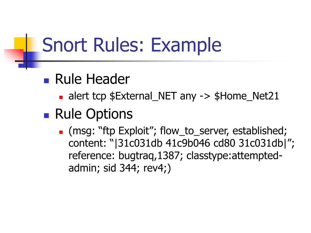 Snort Rules: Example