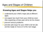 ages and stages of children
