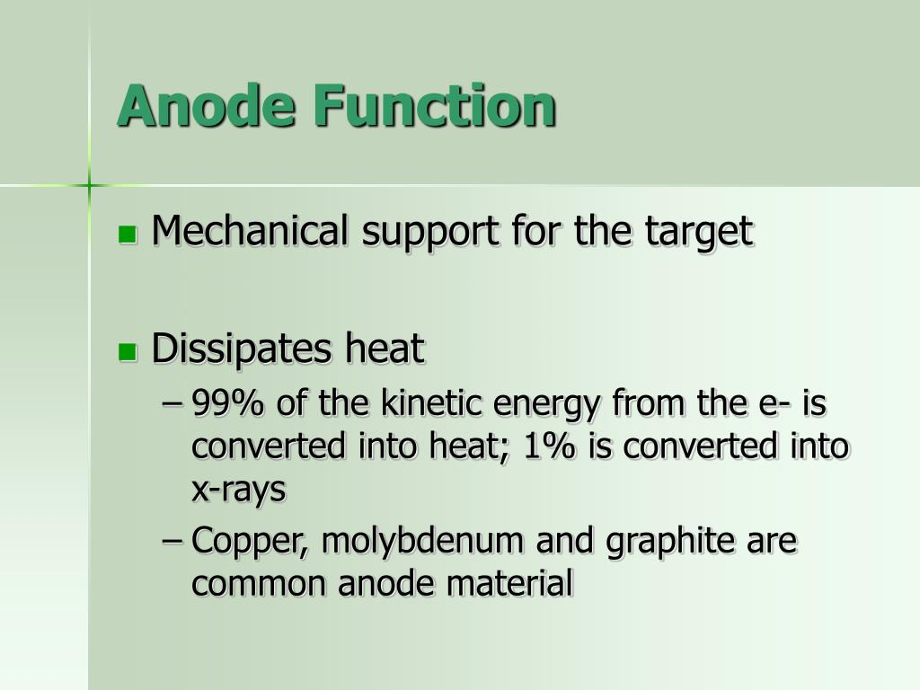 Anode Function