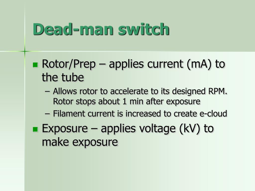 Dead-man switch