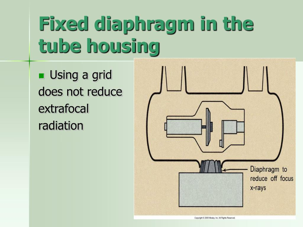 Fixed diaphragm in the tube housing
