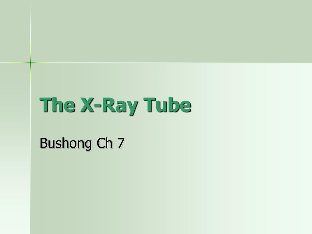 the x ray tube l.