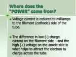 where does the power come from64