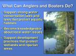 what can anglers and boaters do13