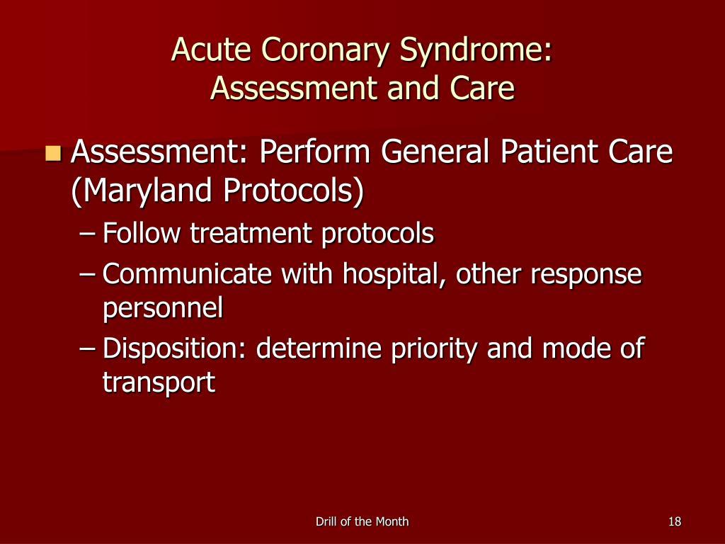 Acute Coronary Syndrome:
