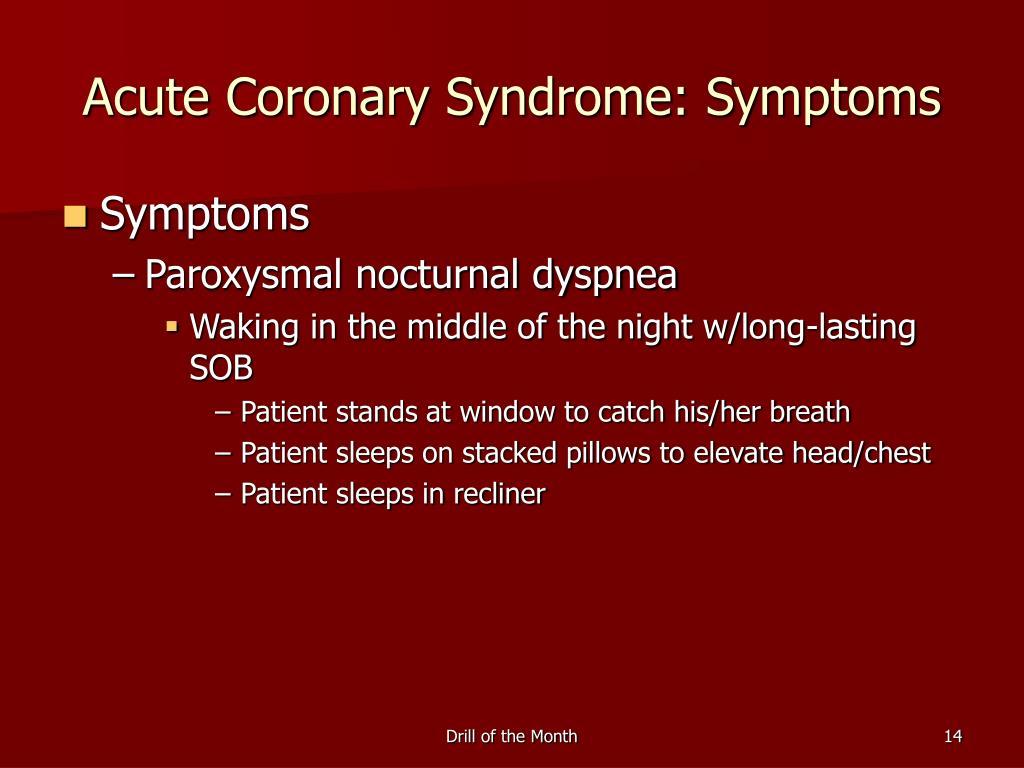 Acute Coronary Syndrome: Symptoms