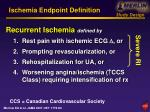 ischemia endpoint definition