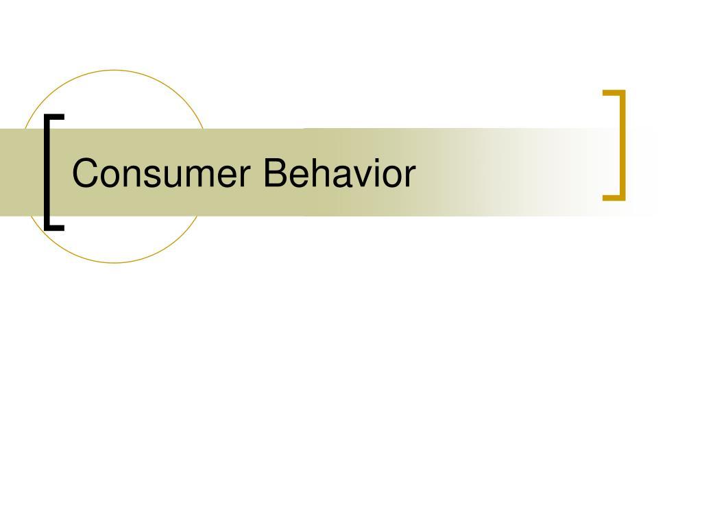 consumer behavior l.