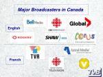 major broadcasters in canada