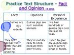 practice text structure fact and opinion te 195b