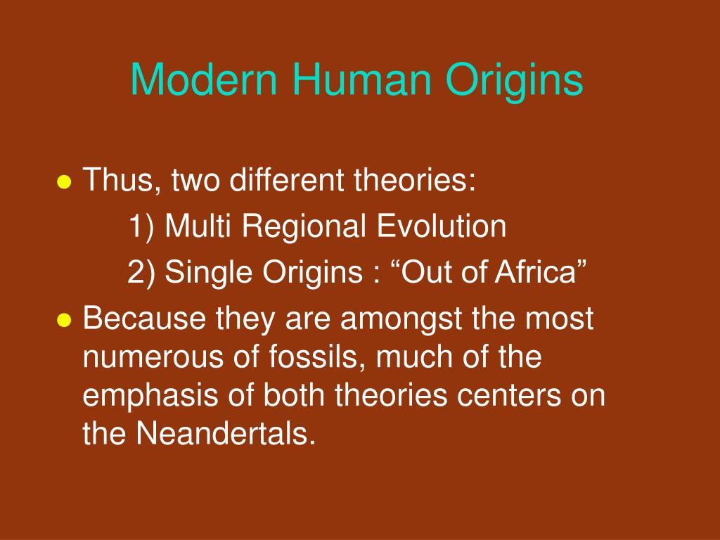 Modern Human Origins