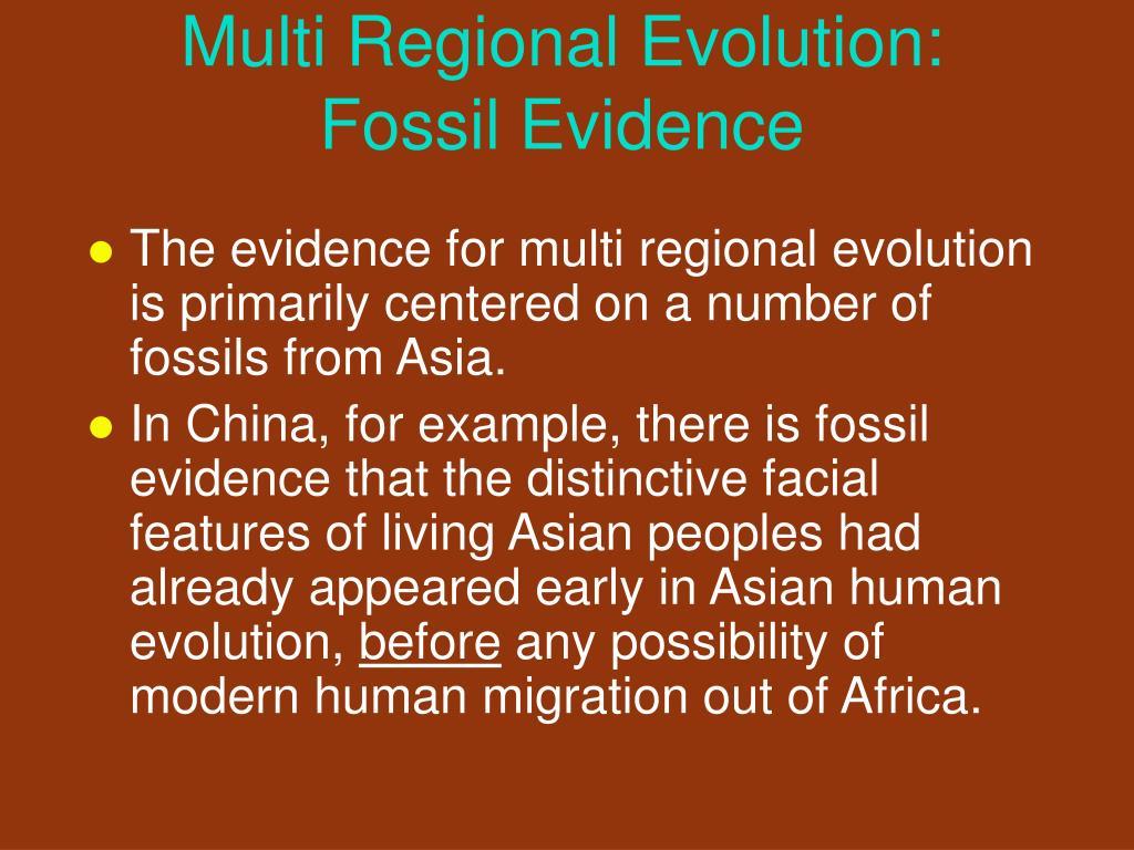 Multi Regional Evolution: Fossil Evidence
