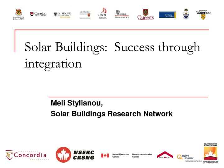 solar buildings success through integration n.